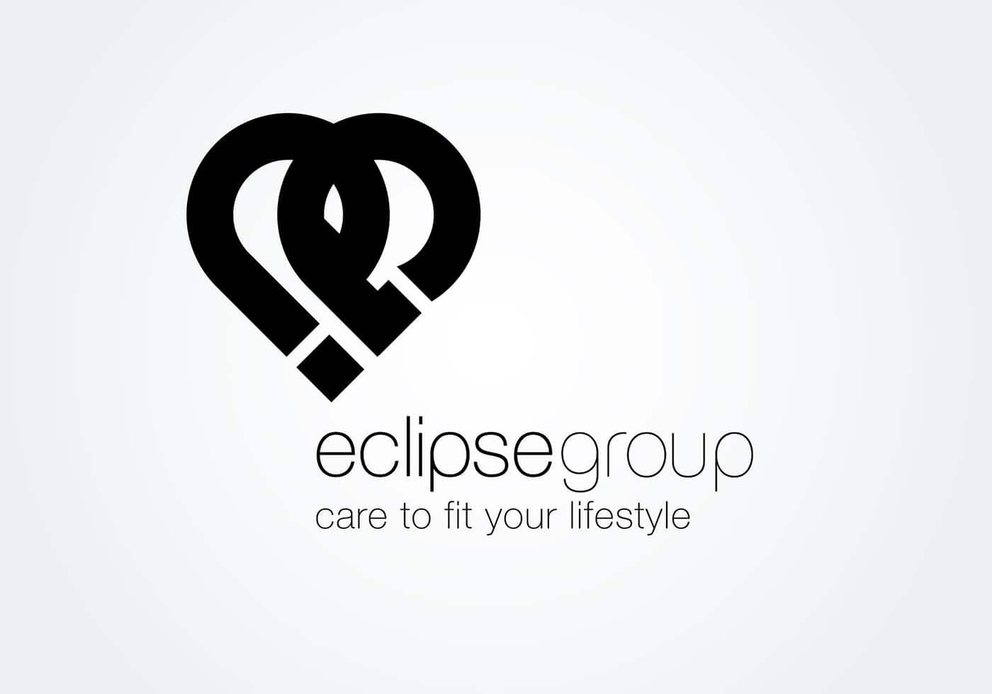 Eclipse Care Group logo design black and white