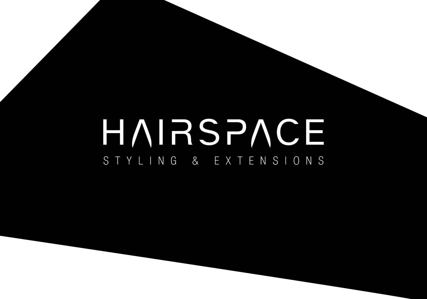 Hairspace logo design black and white